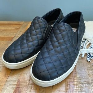 Steve Madden Ecentrcq Quilted Leather Slip-on's